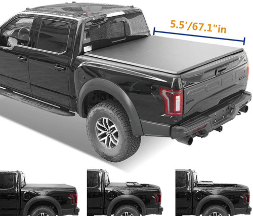 Lyon Cover Hard Tri-Fold Truck Bed Tonneau Cover
