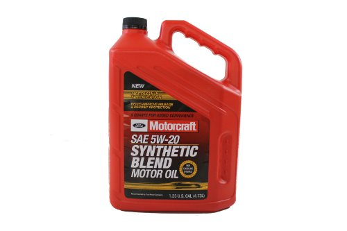 Genuine Ford Fluid XO-5W20-5Q3SP SAE 5W-20 Premium Synthetic Blend Motor Oil