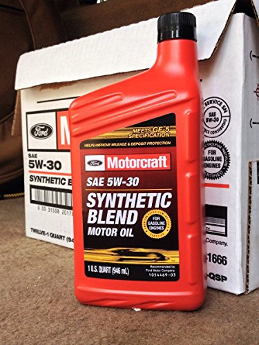 Motorcraft SAE 5w30 Synthetic Blend Motor Oil