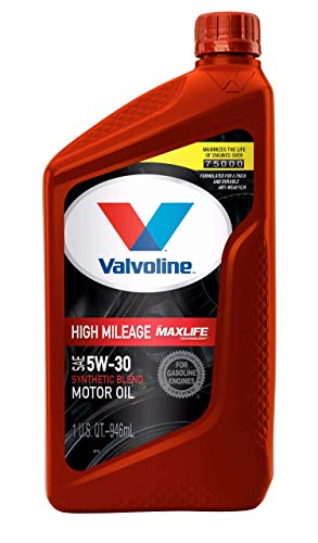 Valvoline High Mileage with MaxLife Technology SAE 10W-30 Synthetic Blend Motor Oil